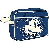 Micky Maus Messenger Bag Retro blau 37.5x27.5x13cm. Offiziell lizenziert