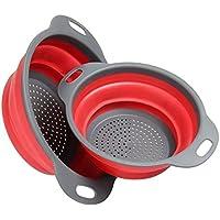 Swify 2pcs Coladores para cocina - Colador plegable cesta de frutas  contenedor de verduras Lavado Escurridor b16368e812d8