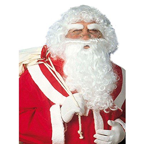Weihnachtsmann Set Perücke Bart Schnurrbart Weihnachtsset Santa Claus Knecht Ruprecht Nikolaus Weihnachten ()