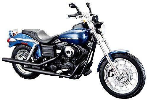 Bauer Spielwaren 532321 Motorradmodell, Blau Harley Davidson Motorrad