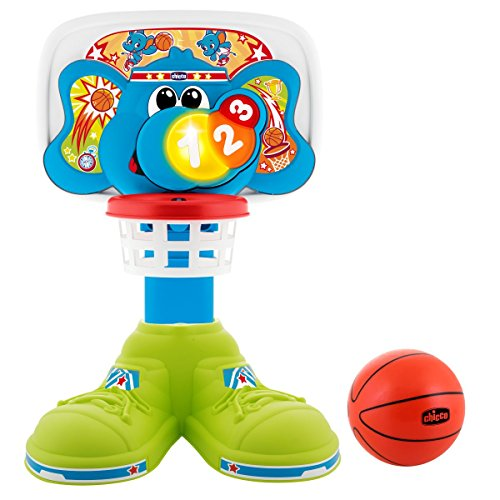 Basketball Spielzeug Baby (Chicco 00009343000000 Eléphant panier de basket Basketball-Korb, Mehrfarbig)