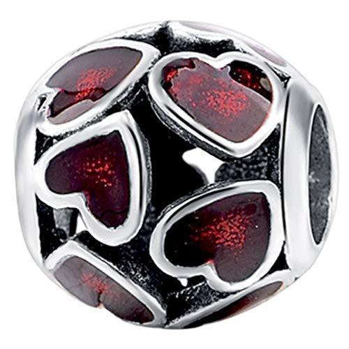 363c5bb11 Joyería Truly Desred Love Heart Charm Bead, plata de ley 925, regalo  perfecto para