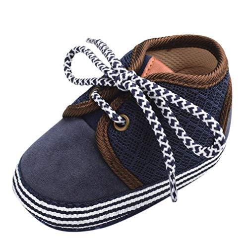 Dragon868 scarpe bambino unisex canvas mocassino primi passi neonato cotone morbido suola scarpe in 2 colore 0-18 mesi