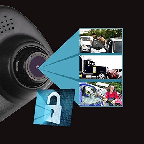 Dax-Hub TFT LCD ad alta risoluzione Video sensore di parcheggio di retrovisione Car System Backup Inversione Rilevatore di veicoli Monitor con fotocamera impermeabile LCD Monitor dinversione di soste 7Specchio parcheggio + Telecamera