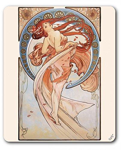1art1 89527 Alphonse Mucha - Der Tanz, 1898 Mauspad 23 x 19 cm