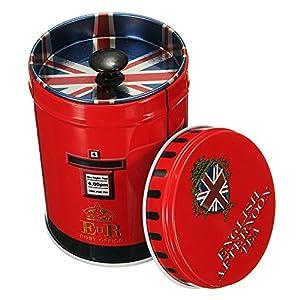 CHUANGLI Mini boîte ronde de rangement en métal, boîte à thé, à bijoux, à bonbon, pour la maison ou la cuisine, différentes couleurs, motif de fleur, Métal, #11, Taille unique