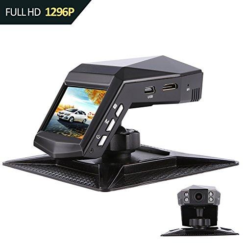 Caméra de Voiture Sony Capteur Dash Cam 1080P Full HD 140 Grand Angle Tableau de bord 2 'Affichage avec 4 lumières infrarouges, Moniteur de stationnement, WDR, détection de mouvement, G-capteur, enregistrement en boucle.