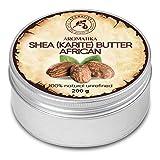Manteca de Karité 200g - Africana -Ghana - Sin Refinar - Prensado en Frío - 100% Puro y Natural - Mejor para el Cabello - Piel - Labio - Cara - Cuidado del Cuerpo - Frasco de Aluminio