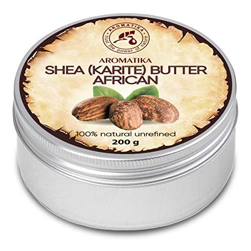 Shea Butter 200g - Kaltgepresst & Unraffiniert - Afrika - 100% Rein & Natürlich Karité Body Butter - Körperbutter - Intensive Pflege für Gesicht - Körper - Haare - Körperpflege