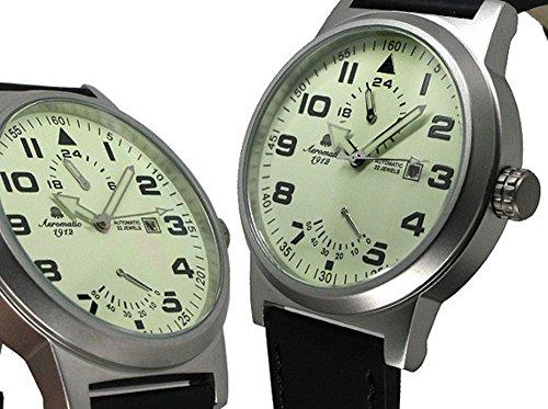 Aeromatic 1912 A1350 - Reloj para hombres, correa de cuero