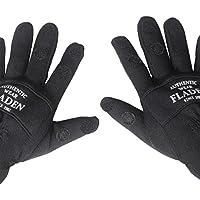 FLADEN Authentic Wear–par de Negro Split con Dedos Suave Guantes de Neopreno con Velcro Fastners–Especialmente diseñado para la Pesca–(tamaño de pequeñas a XXL), Color Negro, tamaño XX-Large