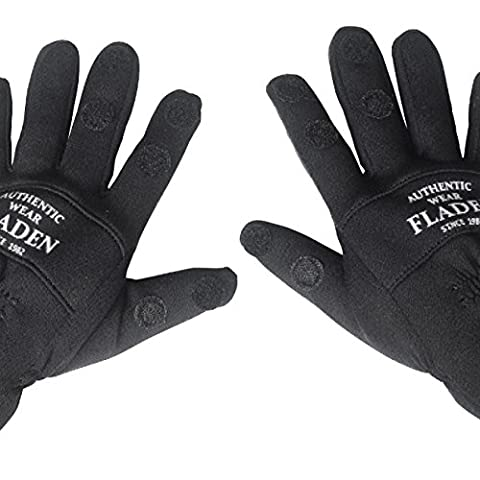 Fladen Authentic Wear–Faire Paire de noir de Split Gants en néoprène souple avec fermeture Velcro fastners–spécialement conçu pour la pêche–(Taille de s à XXL) XXL noir