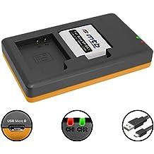 Batería + Cargador doble (USB) para NP-BK1 / Sony DSC-S750