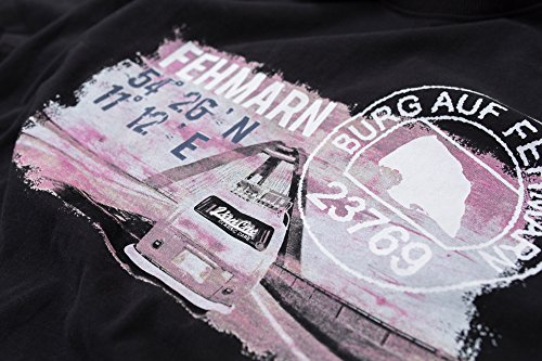 Bulli World Tour Fehmarn VW Bulli Herren T-Shirt schwarz Schwarz