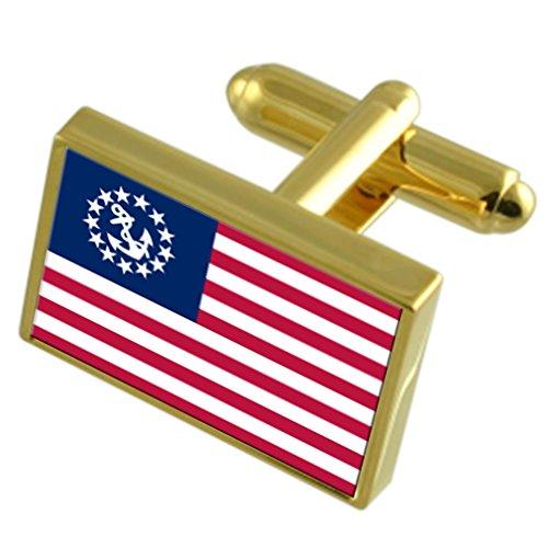 Yachtcharter Ensign zivilen USA Gold Manschettenknöpfe