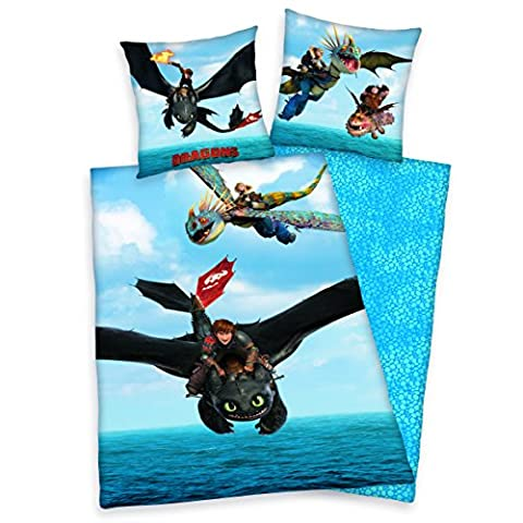 Dragons How to Train your Dragon 135x 200cm + 80x 80cm Flannel Bed Linen Set 462618050