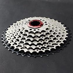 CYSKY 11-40T MTB 9 Velocidades Cassette Fit Bicicleta de Montaña Bicicleta de Carretera Compatible para SRAM, Shimano, Sunrace 9 Speed Freehub Body