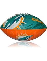 Wilson Football NFL Junior Miami Dolphins Logo - Balón de fútbol americano ( infantil, caucho ) , color multicolor, talla 5