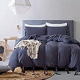 Die besten Gemütliche Bettwäsche Tröster Sets - UNAOIWN Mikrofaser Bettbezug-Set 3Stück Tröster Baumwolle gewaschen mit Bewertungen