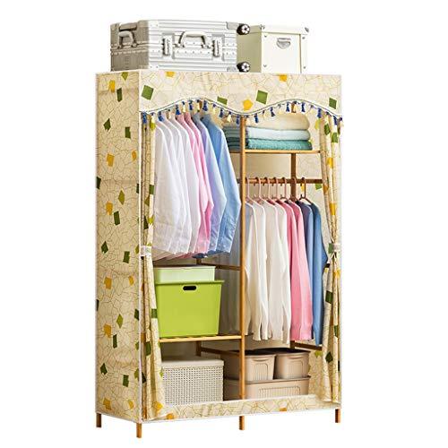 Hongbanlemp Bambus Kleiderbügel, tragbare Kleiderschränke, Kleiderständer, Kleiderbügel, Protokolle, Vlies Kleiderbügel, tragbare Lagerschränke (Größe : M)
