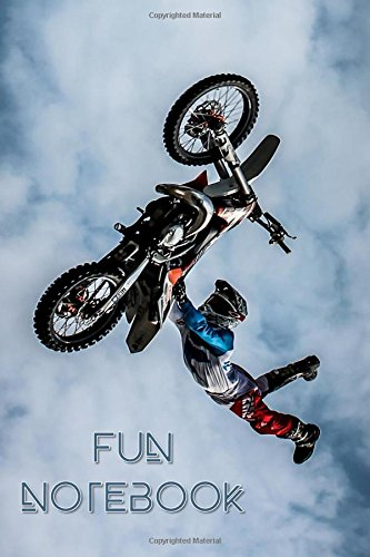 Fun Notebook: Boys Books, Mini Composition Notebook, Ages 6 -12, 6 x 9 Journal, 120 pages, Dirt Bike Jump