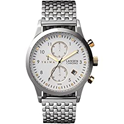 TRIWA Ivory Lansen Chrono Armbanduhr silber LCST106_BR021212