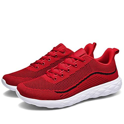 ABsoar Sneakers Herren Große Atmungsaktive Laufschuhe Ultraleichte Joggingschuhe Herbst Turnschuhe Rutschfeste Outdoor Freizeitschuhe