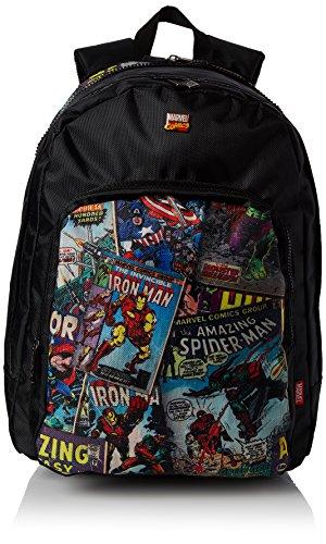 BB Designs Europe Limited Unisex-Erwachsene Retro Comic Red Student Backpack Rucksack, Schwarz (Black) (Rucksack Comics Marvel)