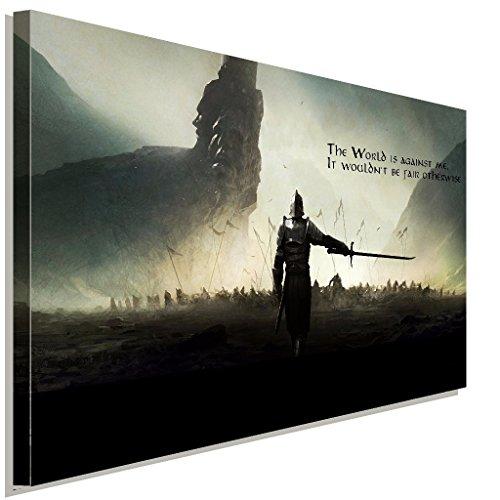 Dark-Souls-Warrior-Battlefield-Leinwandbild-LaraArt-Studio-Wanddeko-Wandbild