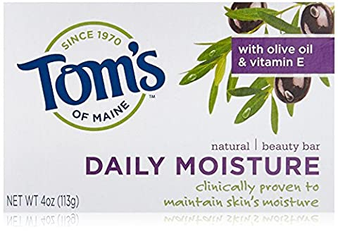 Tom's of Maine Natural Beauty Bar - Daily Moisture Bath Soaps 113 g (Pack of 6)