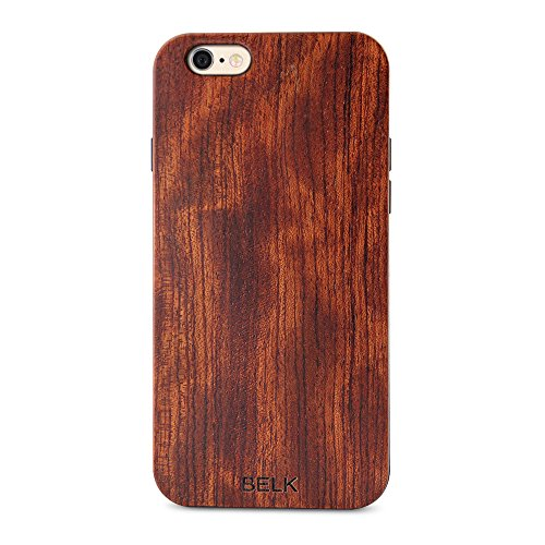 iPhone 6S Schutzhülle, iPhone 6Holz Fall, Belk 2nd Gen Flex Hybrid [leicht Sony] Hartholz Fällen mit Dura BLE verstärkte PC Kissen für iPhone 6S/iPhone 15,2–11,9cm, Holz, Bocote, iPhone 6 Plus / iP Mahogany