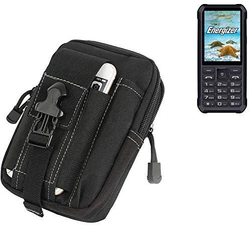 K-S-Trade Gürtel Tasche für Energizer H20 Gürteltasche Schutzhülle Handy Hülle Smartphone Outdoor Handyhülle schwarz Zusatzfächer