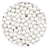Makebake Sugar Pearls White Pearlised 4mm x 100g