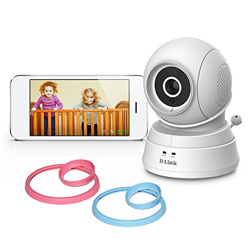 D-Link Pan & Tilt Wi-Fi Baby Camera - Temperature Sensor, 2-Way Talk, Local and Remote Video Baby Monitor app for iPhone and Android (DCS-850L)