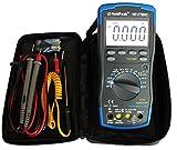 HoldPeak HP-770HC Digital Multimeter 6.000 Counts True RMS NCV Fehlbedienungssperre Autorange Stromzangenanschluss Grau