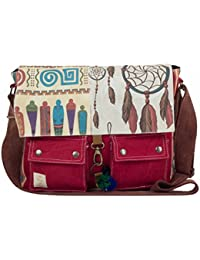 The House of Tara Printed Canvas Messenger Bag