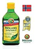 Möller's Omega 3 - Olio di fegato di merluzzo, senza aromi, 250 ml