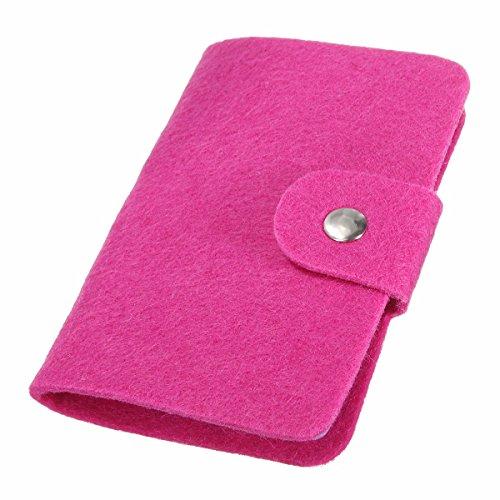 Preisvergleich Produktbild Tutoy Weinlese-Frauen-Mann-Beutel Identifikation-Kreditkarte-Mappen-Bargeld-Halter-Organisator-Kasten-Taschen-Abdeckungs-Fall -Rose