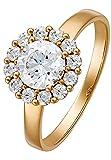 CHRIST Gold by CHRIST Damen-Ring 333er Gelbgold 13 Zirkonia gold, 52 (16.6)