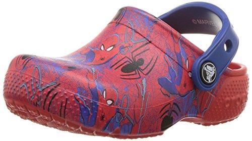 Crocs- - zoccoli fl spiderman grph bambini bimbo 0-24 unisex - kids, rosso (flame), 25 eu