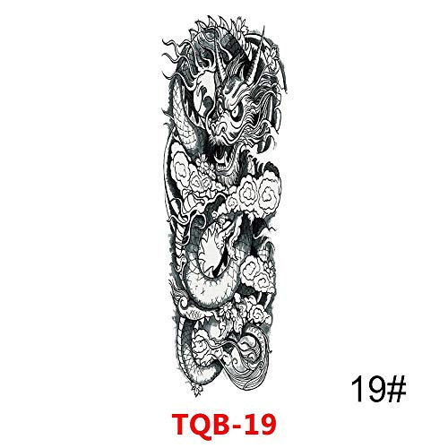 RUYIZHUAN 10 Stücke Große Arm Ärmel Tattoo Wasserdicht Temporäre Tätowierung Aufkleber Schädel Rose Lotus Frauen Männer Mädchen Voller Blume Körperkunst Tatoo
