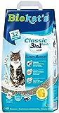Biokat's Classic Fresh 3in1 Katzenstreu mit Cotton Blossom-Duft | verschiedene Korngrößen für feste Klumpen und schnelle Geruchsbindung | 1 Sack (1 x 10 L)