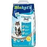 Biokat's Classic Fresh 3in1 Katzenstreu mit Cotton Blossom-Duft – Verschiedene Korngrößen für feste Klumpen und schnelle Geruchsbindung – 1 Papierbeutel (1 x 10 L)