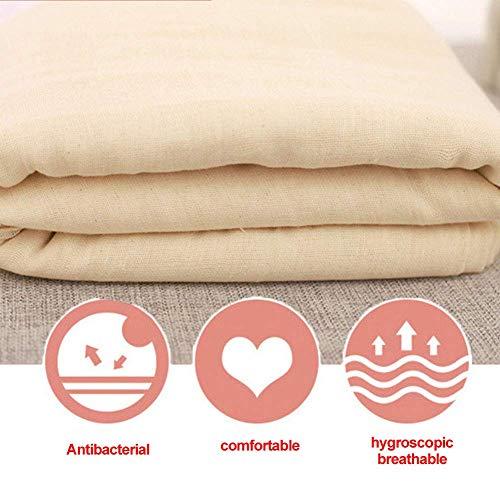 Aavbr Mulltuch 1,5m Wiederverwendbar Baumwolle Brot Küche Tools Ungebleicht Umweltfreundliche Stoff Antibakteriell Kochen Zwirn Filter Gaze Atmungsaktiv Natur