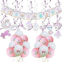 WERNNSAI Baby Shower Decoraciones de Unicornio - Suministros de Fiesta Unicornio Kit para Niña Its A