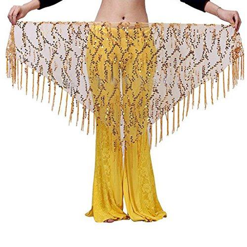 Sharplace Damen Kostüm Bauchtanz Rock Pailletten Gürtel Hüftgürtel Hüfte Schal Hüfttuch - (Bauchtanz Kostüme Hüfte Schal)