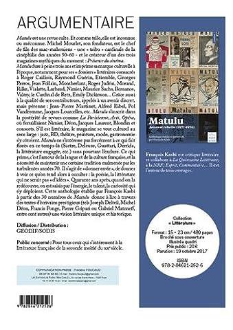 Matulu: Journal rebelle (1971-1974)