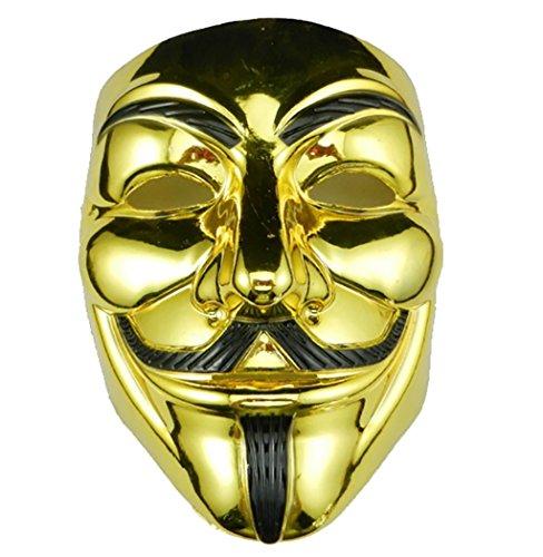 GEEKSLIFE Maske Anonymous - V FÜR Vendetta - Revolution - Gold