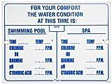 Pentair r234500Virginia Wasser Bedingungen Pool und Spa Schild