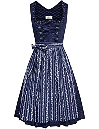 Almsach Damen Trachten-Mode Price Midi Dirndl Bine in Dunkelblau traditionell